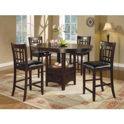 Dining Room Dining Room Sets Lavon 100288 5 Pc Counter Height Dining Pertaining To Jaxon 5 Piece Extension Counter Sets With Wood Stools (Image 10 of 25)