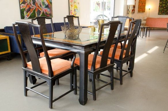 Asian Dining Room Furniture: 25 Photos Asian Dining Tables