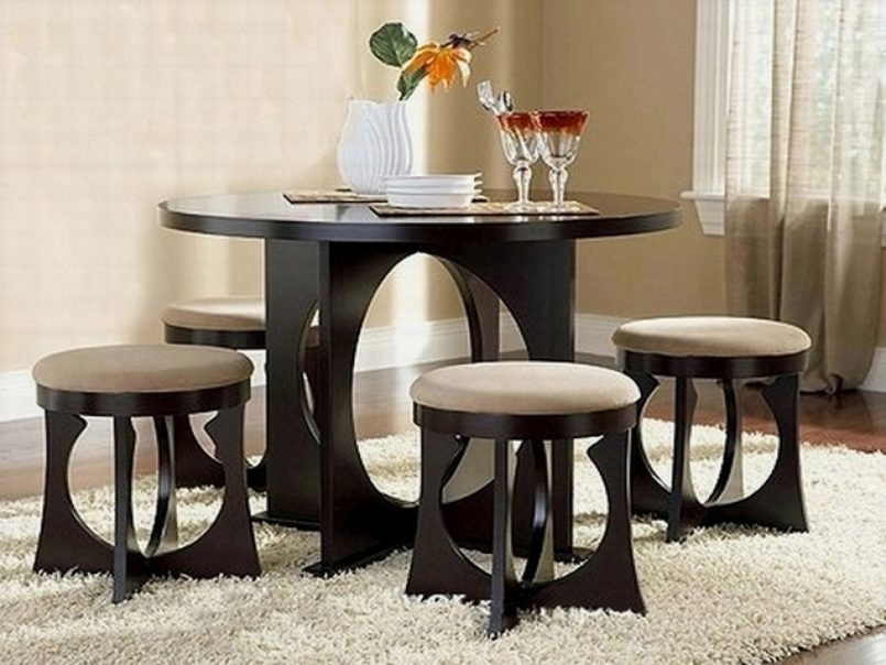 Dining Room Dining Sets For Small Rooms Compact Dining Table Chairs In Compact Dining Tables And Chairs (Image 6 of 25)