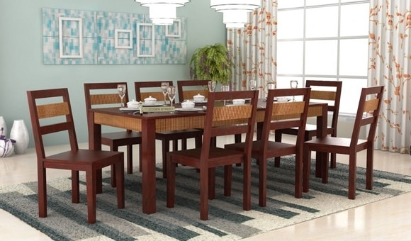 Dining Room Furniture: Buy Dining Furniture Online Upto 55% Off Pertaining To Dining Tables For Eight (Image 10 of 25)
