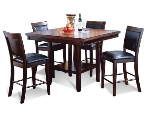 Dining Room Furniture For Jaxon Grey 5 Piece Extension Counter Sets With Wood Stools (Image 4 of 25)