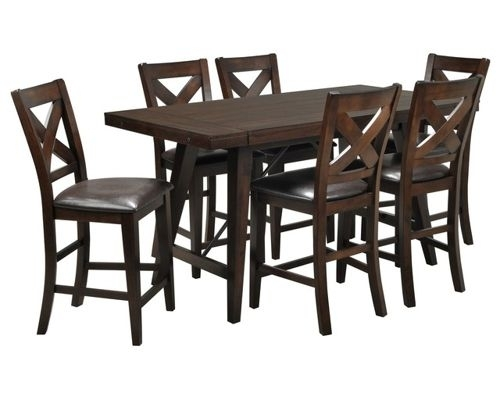 Dining Room Furniture for Jaxon Grey 7 Piece Rectangle Extension Dining Sets With Uph Chairs