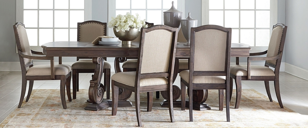 Dining Room Furniture | Haynes Furniture Throughout Magnolia Home Shop Floor Dining Tables With Iron Trestle (Image 5 of 25)