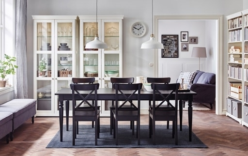 Dining Room Furniture & Ideas | Ikea Inside Black Extendable Dining Tables And Chairs (Image 7 of 25)