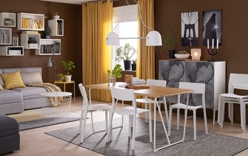 Dining Room Furniture & Ideas | Ikea With White Dining Tables And Chairs (View 25 of 25)