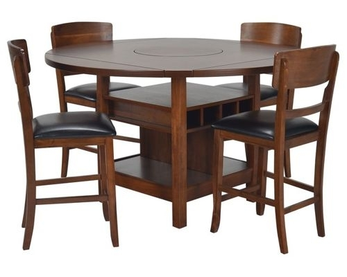 Dining Room Furniture in Jaxon Grey 5 Piece Extension Counter Sets With Wood Stools