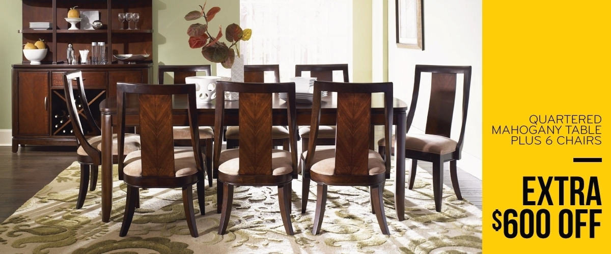 Dining Room Furniture Off Price | The Dump Luxe Furniture Outlet Intended For Chandler 7 Piece Extension Dining Sets With Fabric Side Chairs (Image 7 of 25)