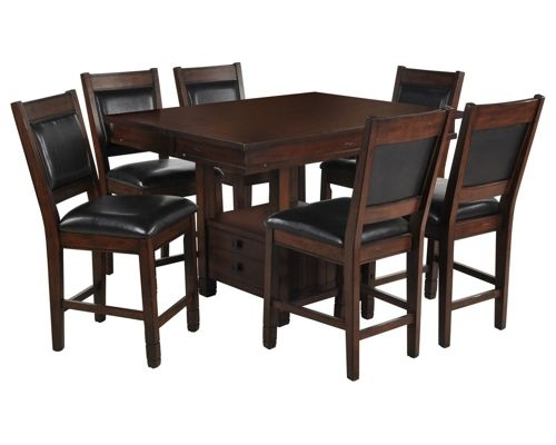Dining Room Furniture Within Jaxon Grey 7 Piece Rectangle Extension Dining Sets With Uph Chairs (Image 9 of 25)