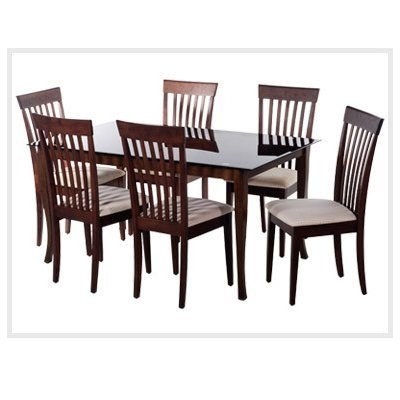 Dining Room Furniture - Wooden Dinning Set4 Chairmade Of Sisam Wood in Wood Glass Dining Tables