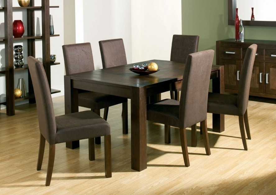 Dining Room Handcrafted Wooden Dining Tables Dark Wood Dining Table Regarding Dark Wood Dining Tables (View 7 of 25)