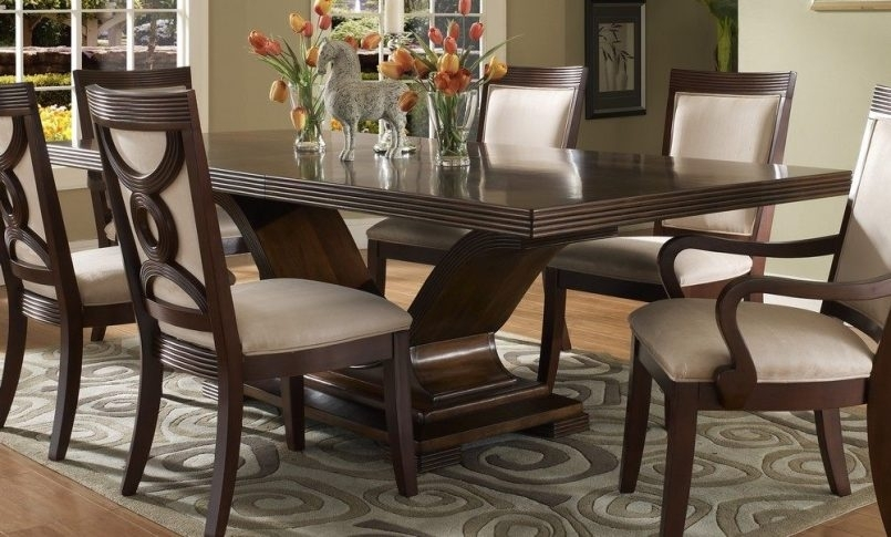 Dining Room Handcrafted Wooden Dining Tables Dark Wood Dining Table Throughout Black Wood Dining Tables Sets (Image 15 of 25)