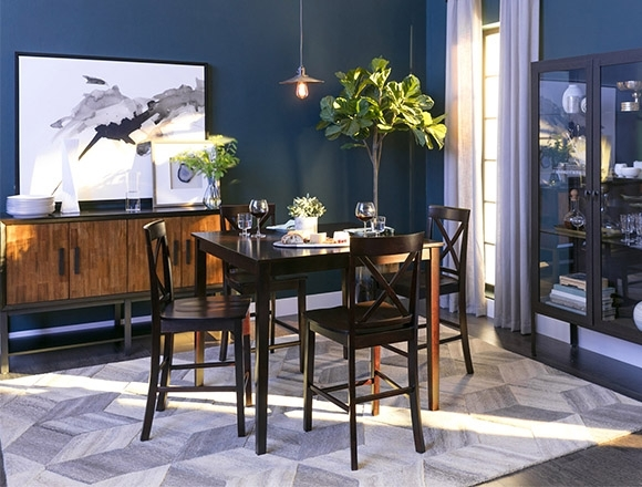 Dining Room Ideas To Get Inspired | Living Spaces In Pierce 5 Piece Counter Sets (View 12 of 25)