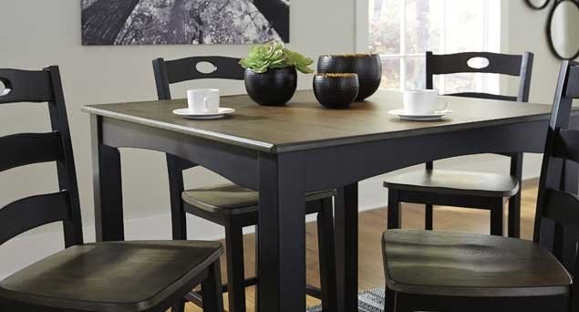 Dining Room Langlois Furniture - Muskegon, Mi with Jaxon 5 Piece Extension Counter Sets With Fabric Stools