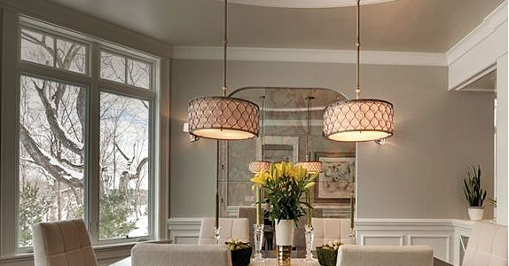 Dining Room Lighting Fixtures & Ideas At The Home Depot With Regard To Lamp Over Dining Tables (Image 12 of 25)
