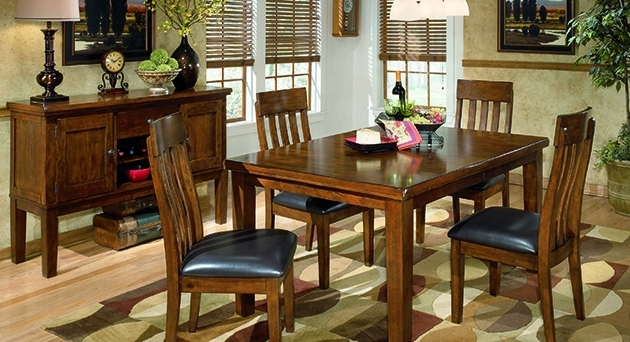 Dining Room Orleans Furniture inside Jaxon 5 Piece Extension Round Dining Sets With Wood Chairs