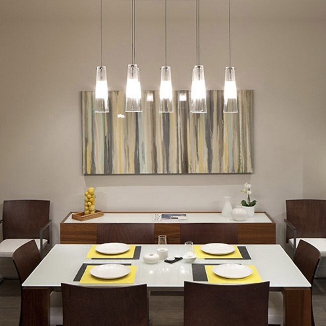 Dining Room Pendant Lighting Ideas & Advice At Lumens Regarding Dining Tables With Led Lights (Image 5 of 25)