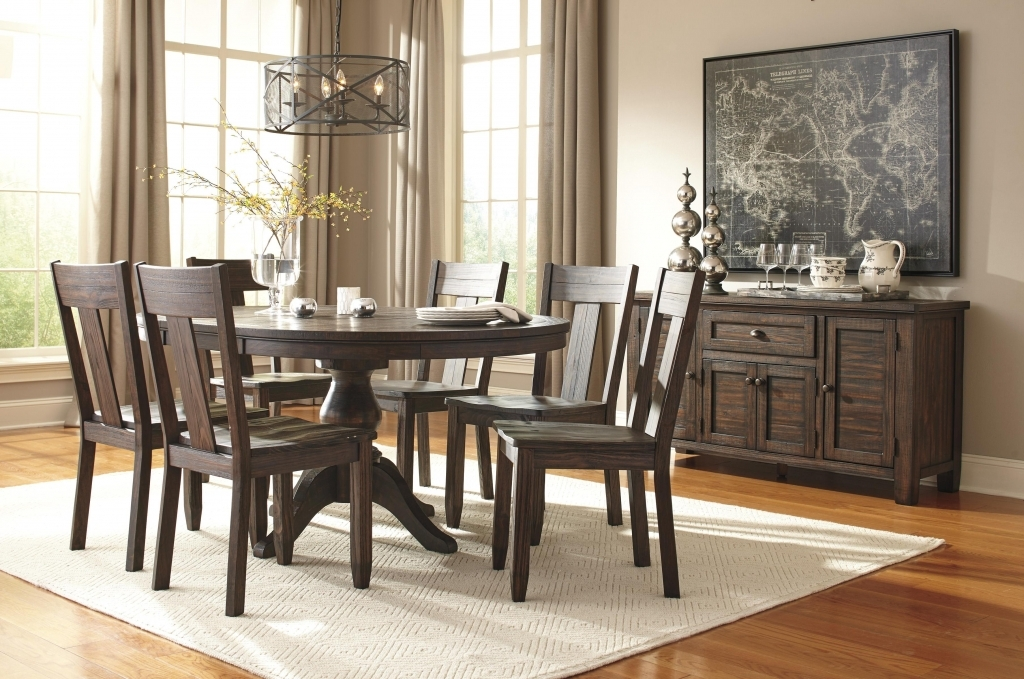 Dining Room: Round Dining Room Table Elegant Signature Design Intended For Grady Round Dining Tables (Image 5 of 25)