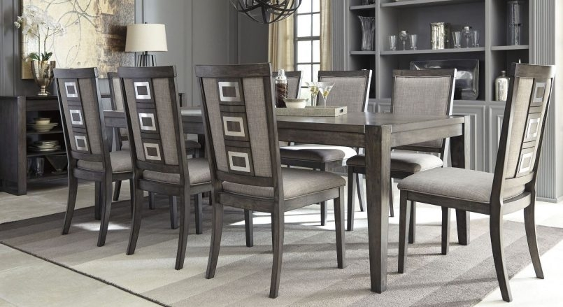 Dining Room Set : Casual Dining Sets Black Kitchen Table Set 8 Throughout Dining Room Chairs Only (Image 10 of 25)