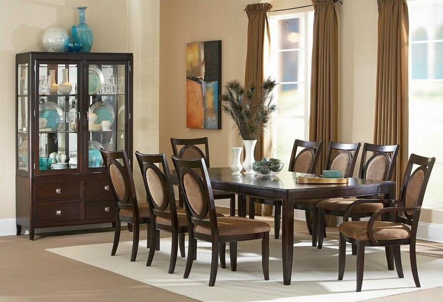 Dining Room Sets 8 Seats Dining Table Set For 8 Kupi Prodajfo Within Dining Tables Set For  (Image 17 of 25)