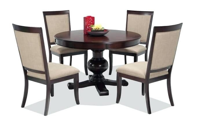 Dining Room Sets Daccor For Formal Designs Chairs Ikea Uk With Regard To Caira Black 5 Piece Round Dining Sets With Upholstered Side Chairs (Image 13 of 25)