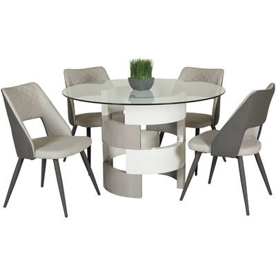 Dining Room Sets, Dining Tables & Dining Chairs | Afw With Craftsman 5 Piece Round Dining Sets With Uph Side Chairs (Image 5 of 25)