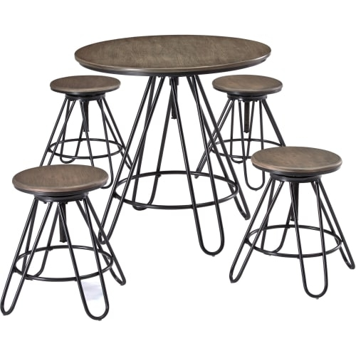 Dining Room Sets & Kitchen Table Sets | Goedeker's Within Jaxon 5 Piece Extension Counter Sets With Wood Stools (Image 11 of 25)