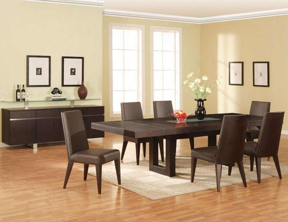 Dining Room Sets Modern | Design Ideas 2017 2018 | Pinterest Within Contemporary Dining Tables Sets (Image 13 of 25)