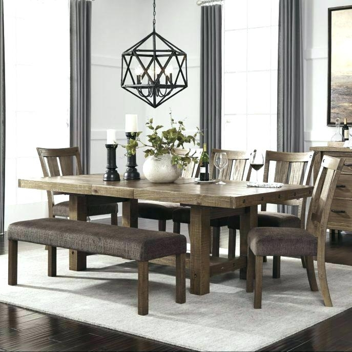Dining Room Sets With Bench Market 6 Piece Dining Set With Side With Regard To Market 6 Piece Dining Sets With Side Chairs (Image 10 of 25)