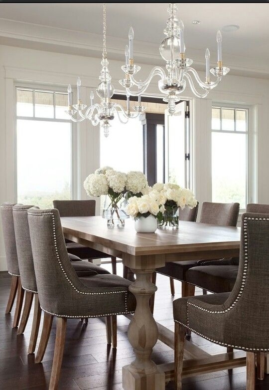 Dining Room Table 2 – With Dark Grey Chairs | Founterior Regarding Dark Dining Room Tables (Image 16 of 25)