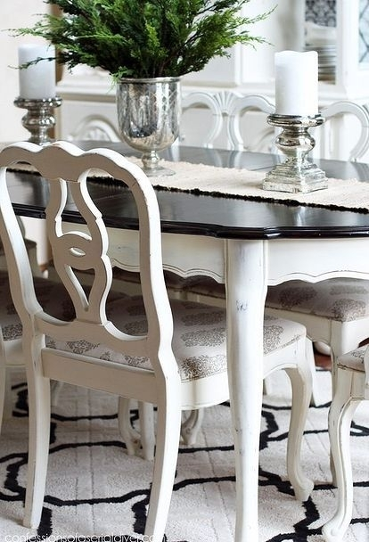 Dining Room Table Makeover | Crafty | Pinterest | Dining, Dining Regarding Painted Dining Tables (Image 9 of 25)