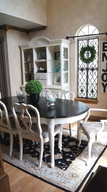 Dining Room Table Makeover In 2018   Madisyn   Pinterest   Dining Regarding Painted Dining Tables (Image 10 of 25)