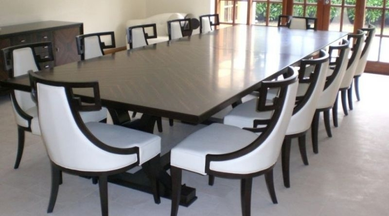 Dining Room Table Sets Seats 10 – Castrophotos With 10 Seat Dining Tables And Chairs (Image 17 of 25)