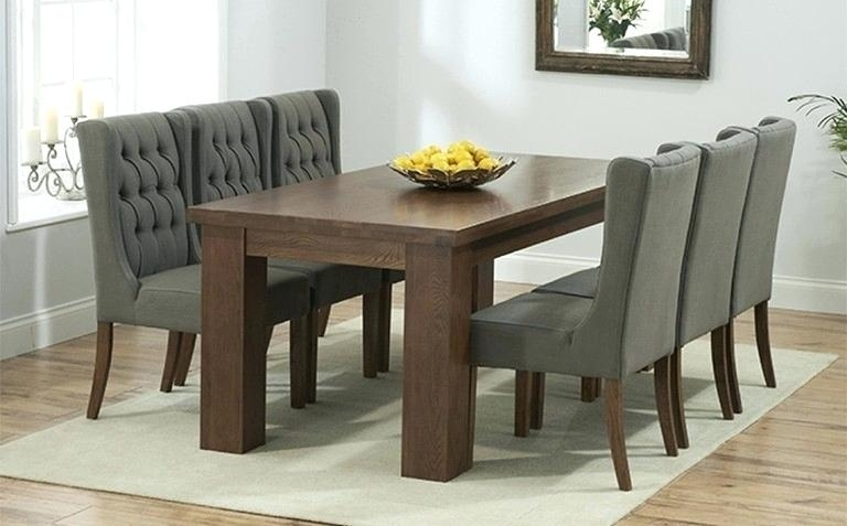 Dining Room Table With 6 Chairs Black Special Dining Room Table And In Dark Wood Dining Tables 6 Chairs (Image 12 of 25)