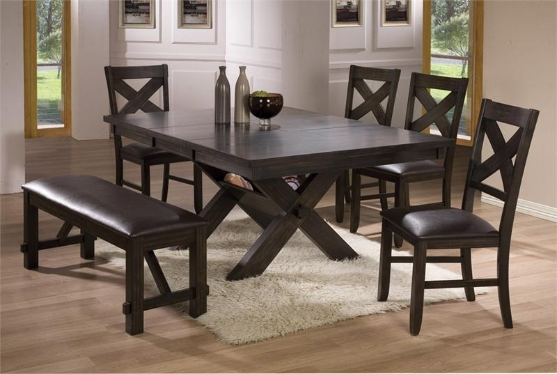 Dining Room Tables With Benches | Homesfeed Pertaining To Dark Dining Room Tables (Image 17 of 25)