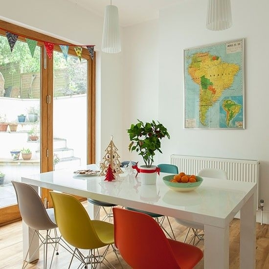 Dining Room With Multi Coloured Chairs | Decor And Design For Colourful Dining Tables And Chairs (Image 16 of 25)