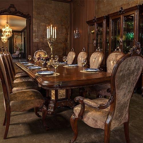 Dining Rooms | Michael Amini Furniture Designs | Amini | Quick regarding Lindy Espresso Rectangle Dining Tables