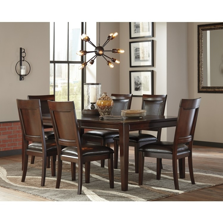 Dining Set | Ashley Shadyn 7-Piece D471 | Lastman's Bad Boy within Crawford 7 Piece Rectangle Dining Sets