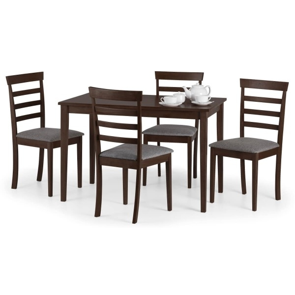 Dining Set – Cleo Dining Table And 4 Dining Chairs In Mahogany Cle901 With Mahogany Dining Tables And 4 Chairs (View 19 of 25)