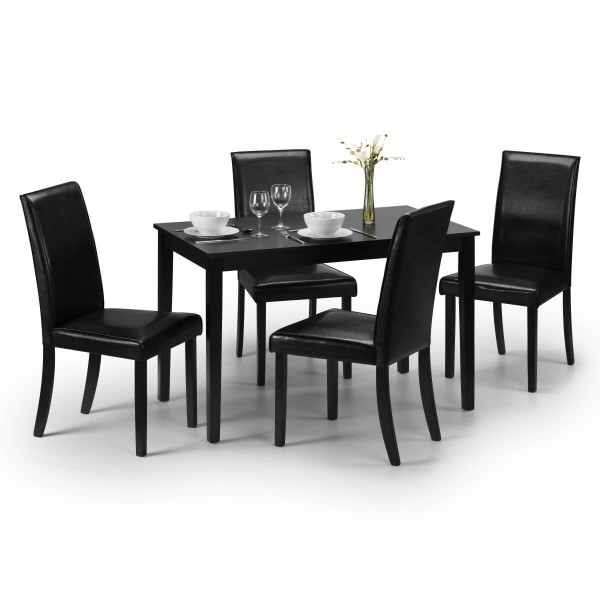 Dining Set – Hudson Dining Table And 4 Chairs In Black Hud006 With Regard To Hudson Dining Tables And Chairs (View 9 of 25)