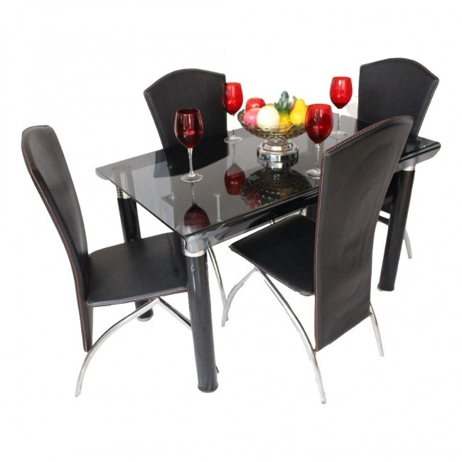 Dining Set Online, Dining Set Furniture Showroom In Ahmedabad Throughout Curved Glass Dining Tables (Image 11 of 25)