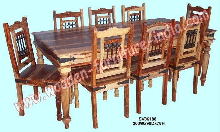Dining Set,indian Wooden Furniture,home Furniture,table,chair – Buy Throughout Indian Dining Chairs (Image 6 of 25)