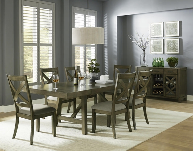 Dining Sets – Kitchen & Dining Room Sets – Hom Furniture With Chapleau Ii 9 Piece Extension Dining Tables With Side Chairs (View 15 of 25)