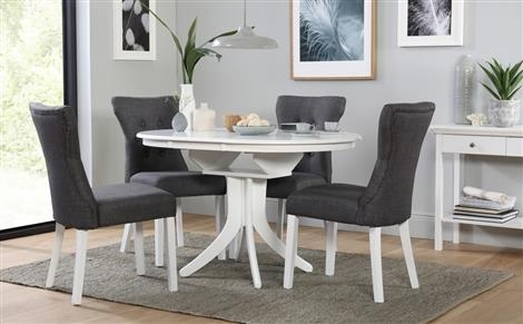 Dining Table & 4 Chairs | Furniture Choice within White Dining Sets