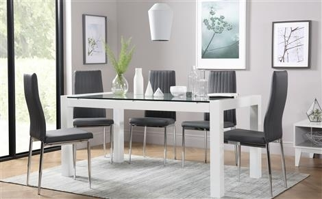 Dining Table & 6 Chairs – 6 Seater Dining Tables & Chairs Intended For Glass Dining Tables With 6 Chairs (Image 9 of 25)
