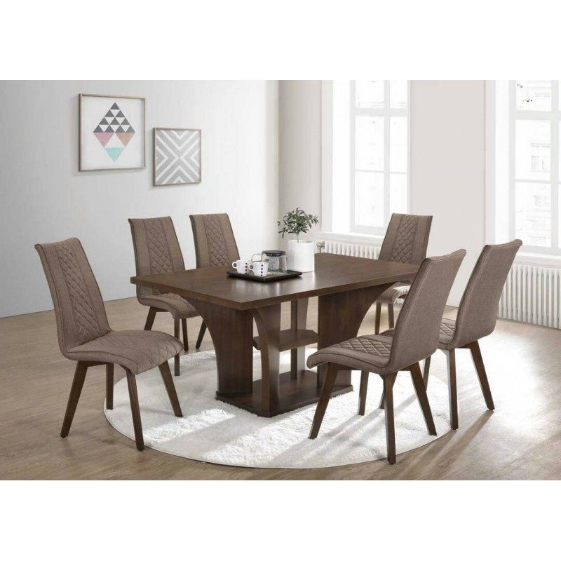 Dining Table | 6 Seater Dining Set Within 6 Seat Dining Tables And Chairs (Image 16 of 25)