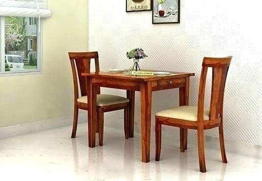 Dining Table And 2 Chairs Breakfast Set Absolutely Smart Small In Two Seat Dining Tables (Image 9 of 25)
