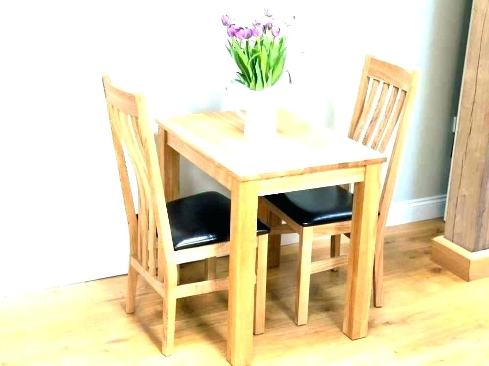 Dining Table And 2 Chairs Breakfast Set Absolutely Smart Small Intended For Small Dining Tables For  (Image 8 of 25)