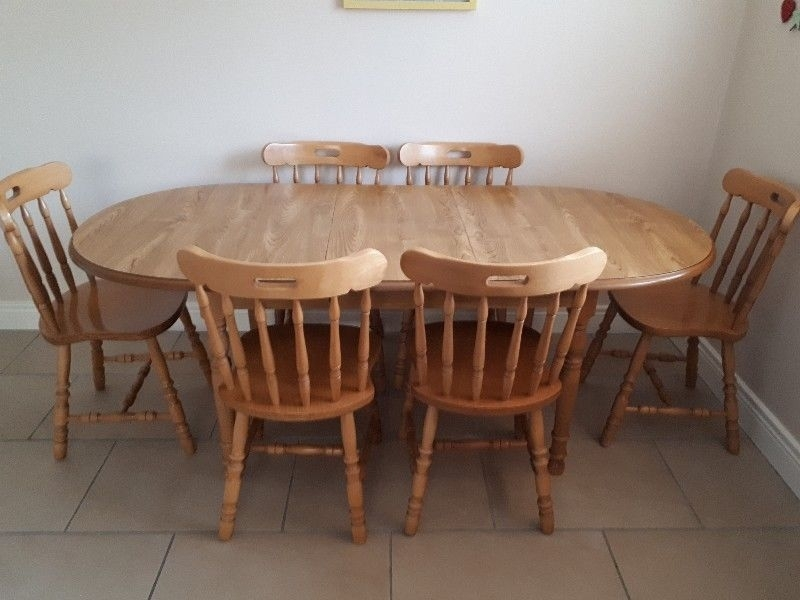 Dining Table And 6 Chairs | Cork | Gumtree Classifieds Ireland Regarding Cork Dining Tables (Image 11 of 25)