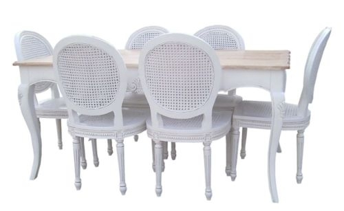Dining Table And 6 Chairs | Furniture | Ebay inside White Dining Tables With 6 Chairs