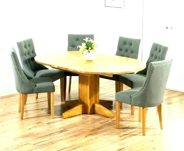 Dining Table And 6 Chairs Set Oak Room Winsome Extending With Round Intended For Extended Round Dining Tables (Image 8 of 25)